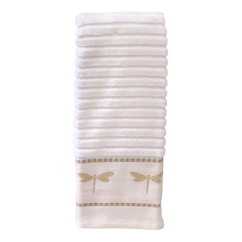 Creative Bath Dragonfly Hand Towel, Natural/Ivory (Natural/Cream)