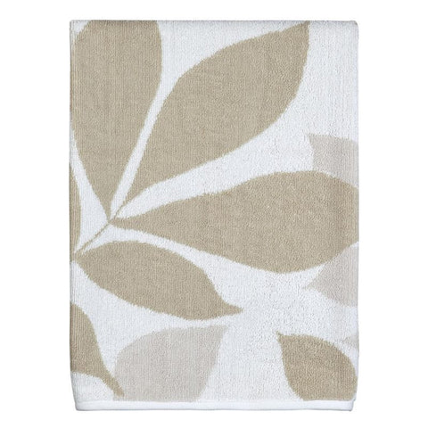Creative Bath Shadow Leaves Bath Towel, Tan/Natural