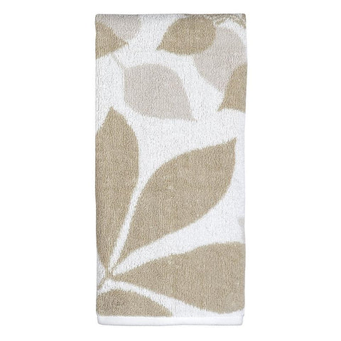 Creative Bath Shadow Leaves Hand Towel, Tan/Natural