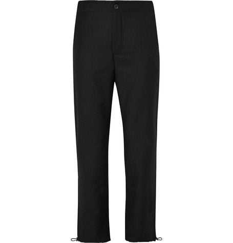Acne Studios - Pace Drawstring-hem Wool Trousers - Black
