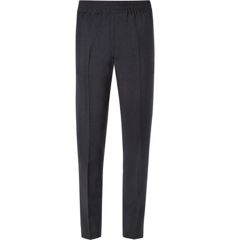 Acne Studios - Ryder Tapered Wool And Mohair-blend Trousers - Navy