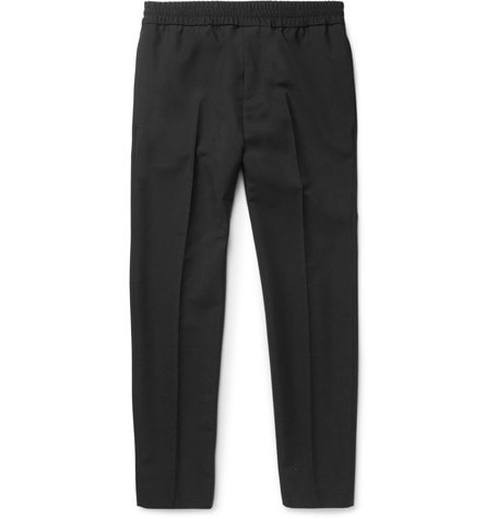 Acne Studios - Ryder Slim-fit Wool And Mohair-blend Trousers - Black