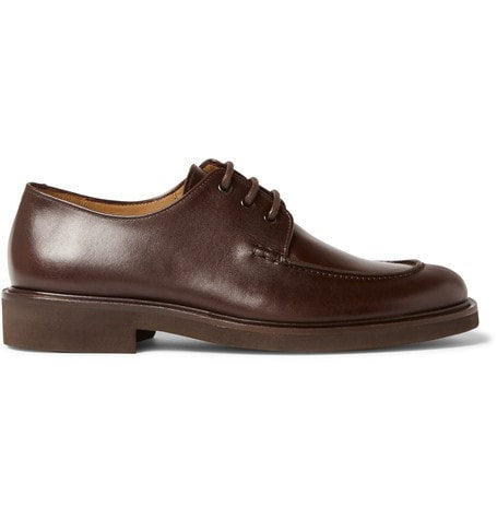 A.P.C. - Split-toe Leather Derby Shoes - Brown