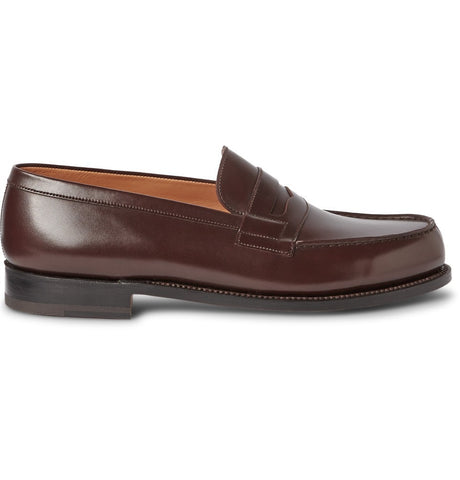 180 The Moccasin Leather Loafers Brown_4385