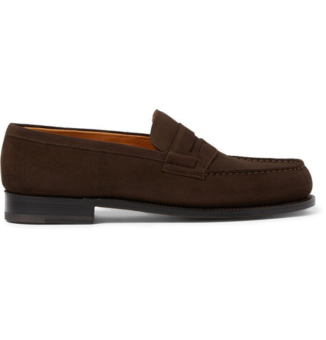 180 The Moccasin Suede Loafers Brown_4387