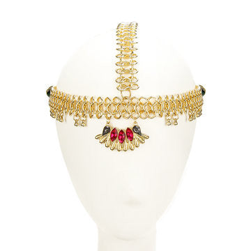 Bohemian Red Gemstone Head Piece