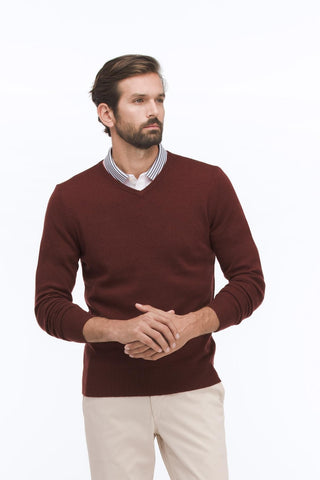 AG Jeans The Ridgewood V-neck - Fog Grey M Sweaters