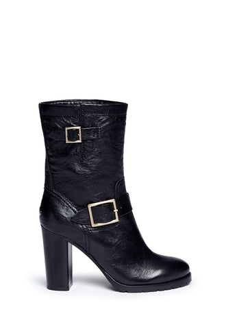 'Dart' leather biker boots
