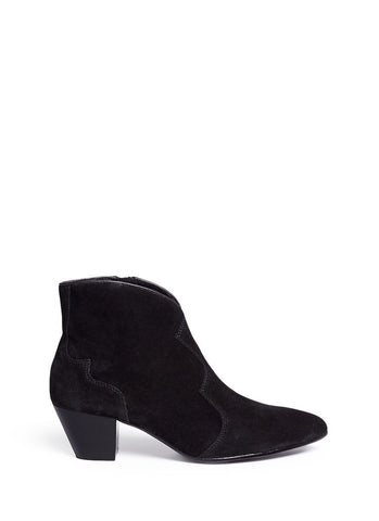 'Hurrican' suede cowboy ankle boots-18458