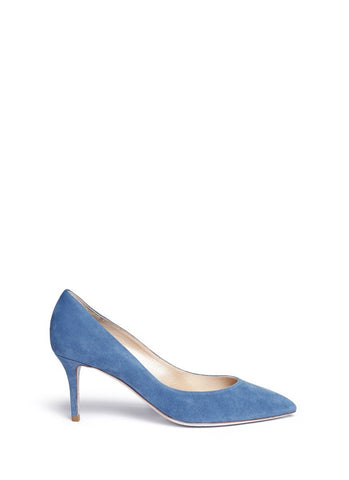 'Decollete' denim effect suede pumps