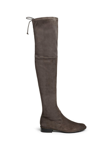 'Lowland' suede thigh high boots
