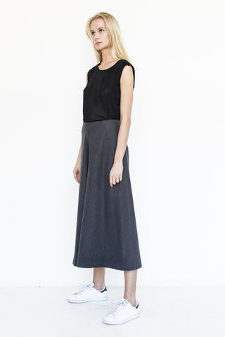 Charcoal Cropped Pant