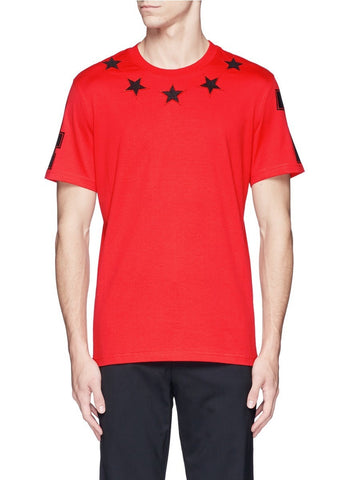 '74' print star patch T-shirt