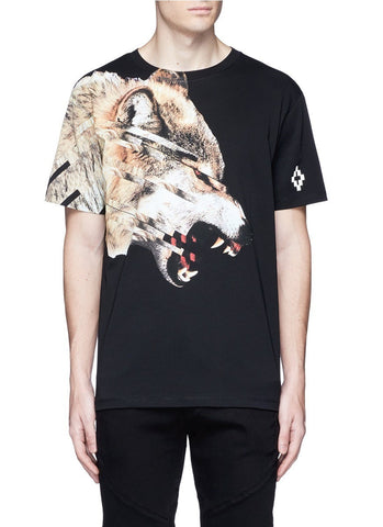 'Cruces' animal print T-shirt