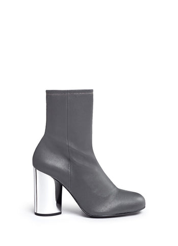 'Zloty' metallic heel leather mid calf boots-18436