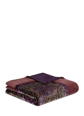 Montrose Ellon paisley print king size bed cover-18044