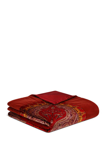 Montrose Ellon paisley print king size bed cover-18005