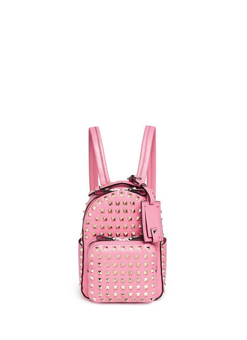 'Rockstud' mini leather backpack-9284