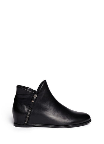 'Lowkey' leather concealed wedge ankle boots