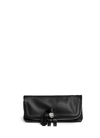 'Padlock' leather clutch-9432