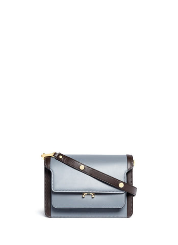 'Trunk' colourblock leather flap bag