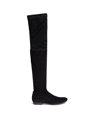 'Fetej' stretch suede thigh high boots