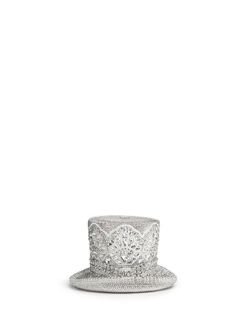 'Top Hat' crystal pavé minaudière