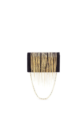 'Angel Hair' fringe suede chain clutch-9378