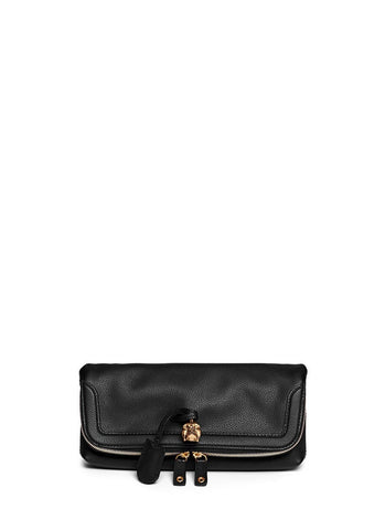 'Padlock' leather clutch-9426