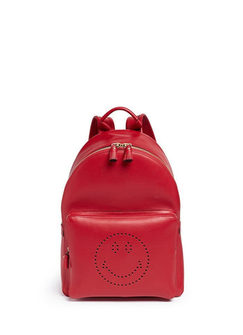 'Smiley' leather backpack-9305
