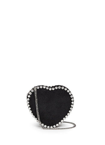 'Falabella' strass heart shape crossbody bag