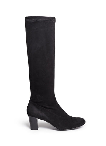 'Passac J' stretch suede knee high boots