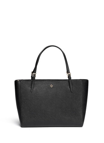 'York' saffiano leather buckle tote