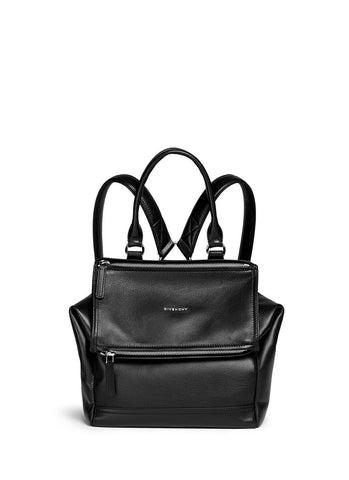 'Pandora' grainy leather backpack