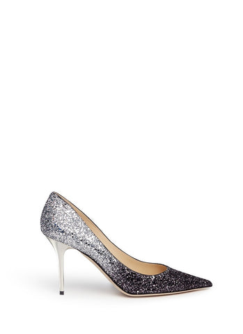 'Agnes' glitter dégradé pumps