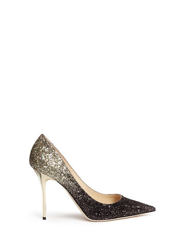 'Abel' coarse glitter pumps-19090
