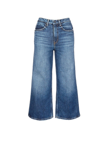 'Drill' wide leg jeans