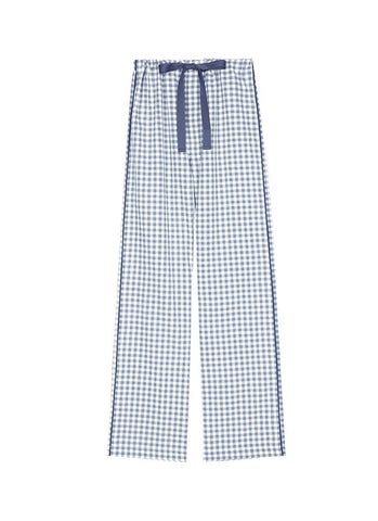 'Ally' gingham check organic cotton pyjama pants
