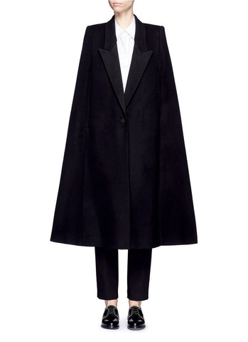 'Becker' wool blend melton tuxedo cape coat