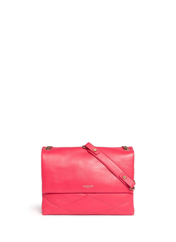 'Sugar' medium quilted leather flap bag-9523