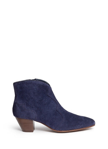 'Hurrican' suede cowboy ankle boots-18425