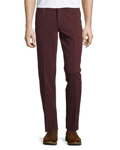 Straight-Leg Trousers, Oxblood