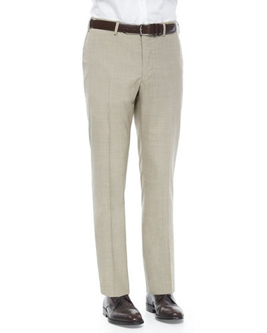Super 150's Wool Trousers, Tan
