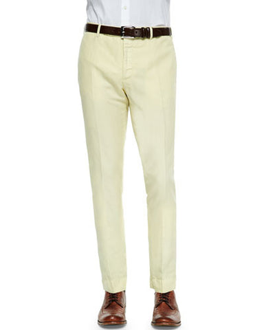 Chinolino Linen/Cotton Trousers, Yellow