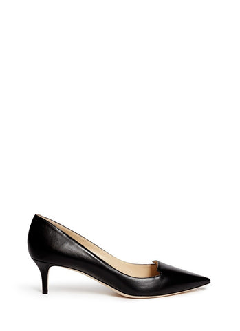 'Allure' Venetian vamp leather pumps