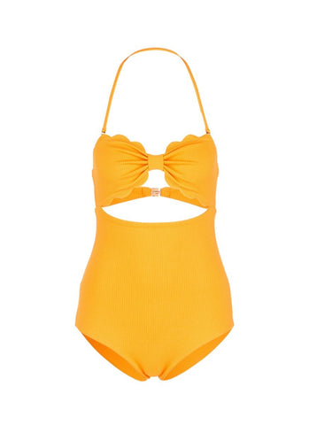 'Antibes' cutout bow bandeau one-piece swimsuit-14921