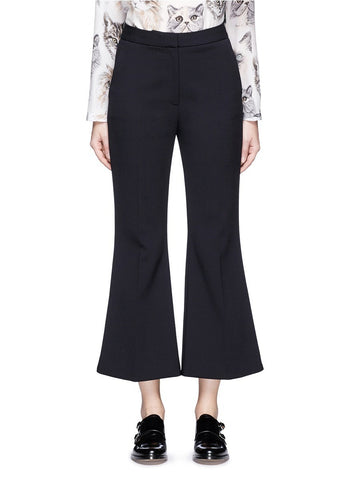 'Angela' wool cropped flared pants
