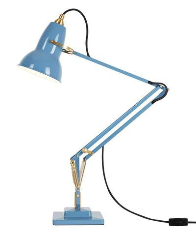 Anglepoise Original 1227™ Brass Desk Lamp in Dusty Blue