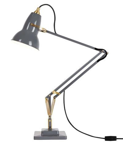 Anglepoise Original 1227™ Brass Desk Lamp in Elephant Grey