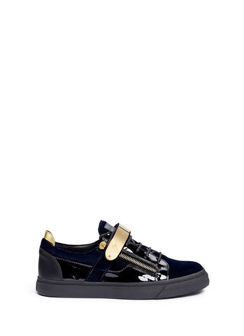 'London' velvet low top sneakers-20138